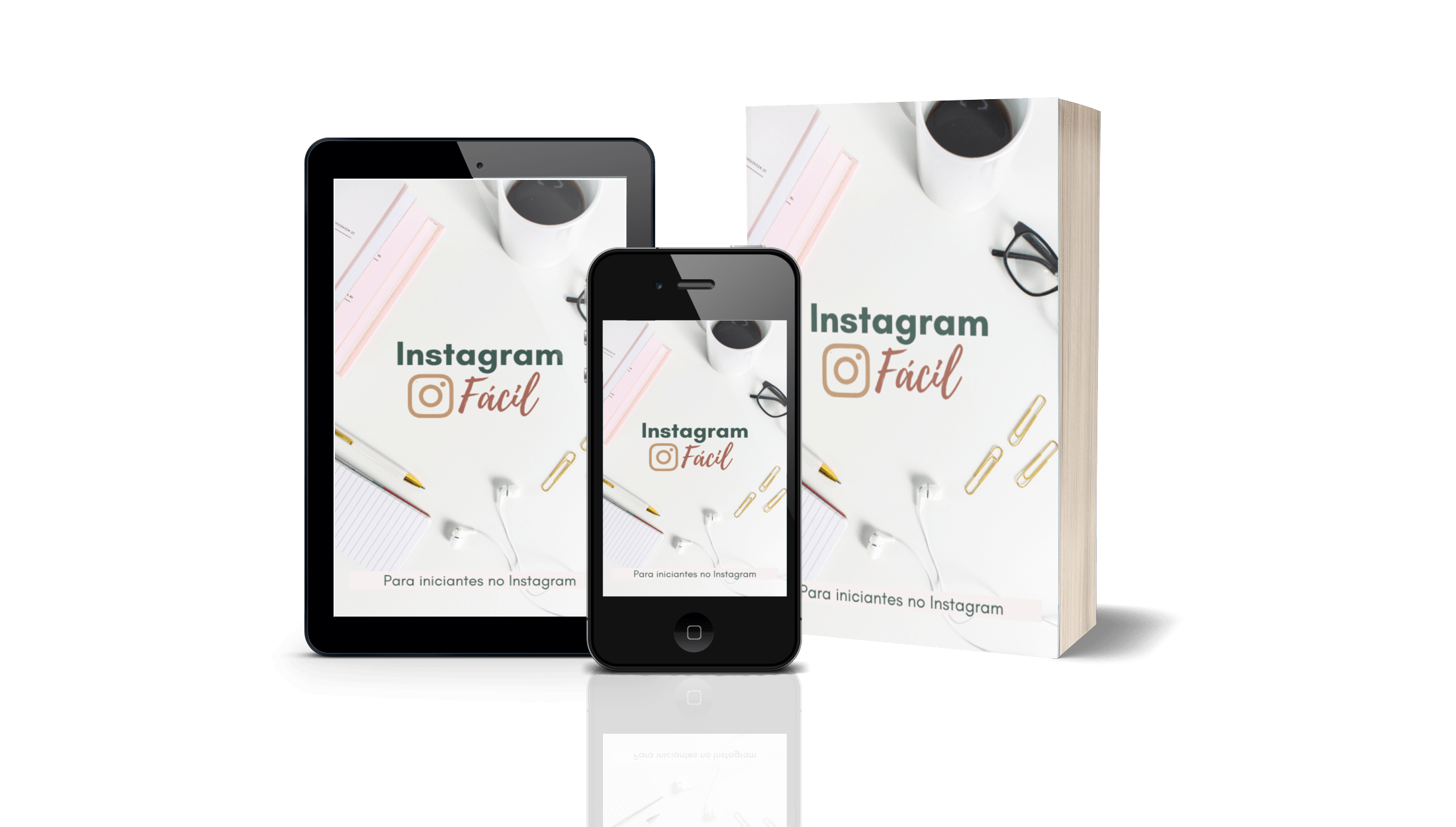 capa composição 3d - E-book Instagram Fácil