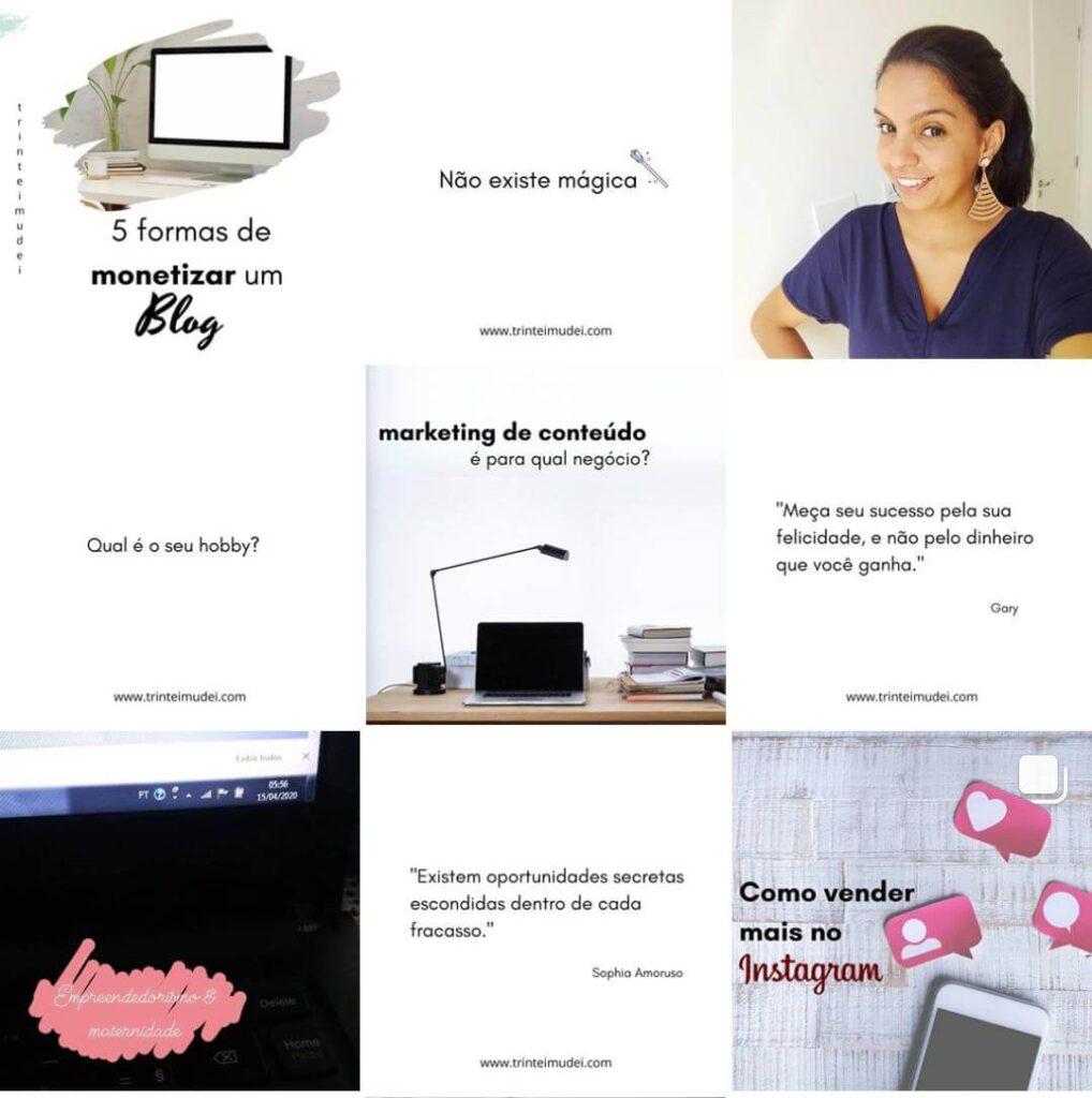 tipos de feed instagram 1018x1024 - Tipos de feed Instagram – 3 modelos profissionais e fáceis de fazer
