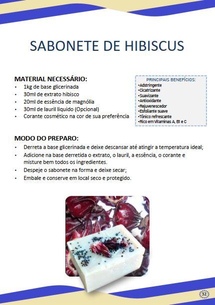 sabonete de hibisco - Receita de sabonete artesanal de hibisco – passo a passo!