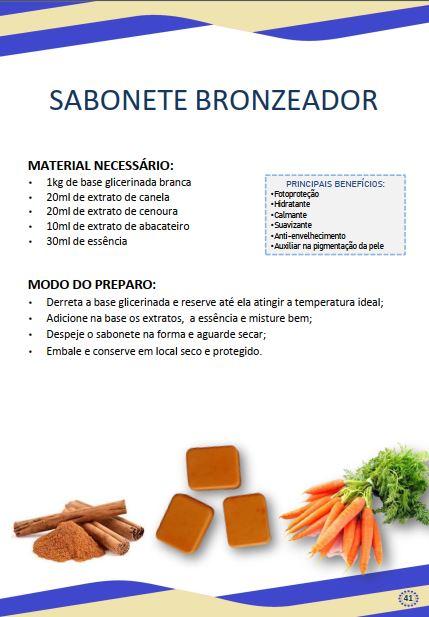 sabonete de canela - Receita de sabonete de canela e cenoura – Sabonete bronzeador