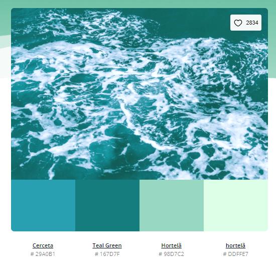 paleta de cores verde agua - Modelos de paleta de cores verde - 10 combinações inspiradoras