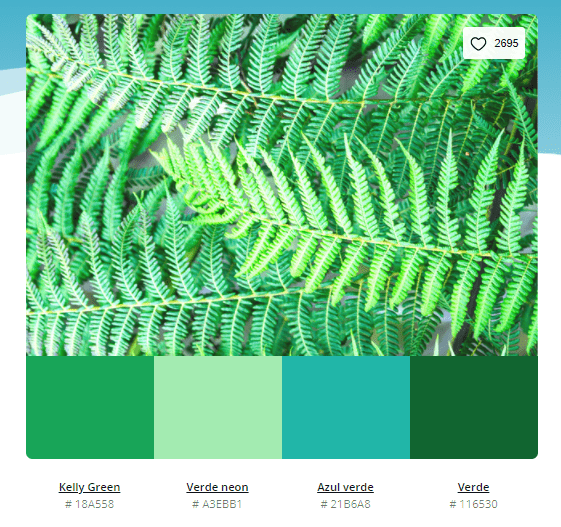 paleta de cores verde e azul - Modelos de paleta de cores verde - 10 combinações inspiradoras