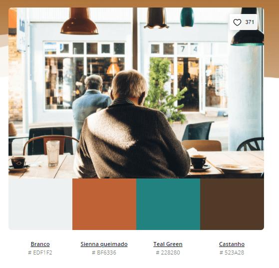 paleta de cores verde e marrom - Modelos de paleta de cores verde - 10 combinações inspiradoras