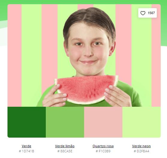 paleta de cores verde e rosa - Modelos de paleta de cores verde - 10 combinações inspiradoras